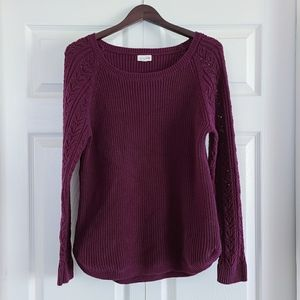 Wine Knit Sweater